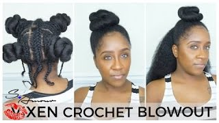 VIXEN CROCHET BRAIDS INSTALL | BLOWOUT HAIR | WITH LEAVE OUT