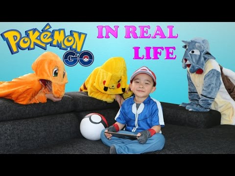 Playing Pokemon Go In Real Life Catching Rare Pikachu Charmander Blastoise Fun With Ckn Toys