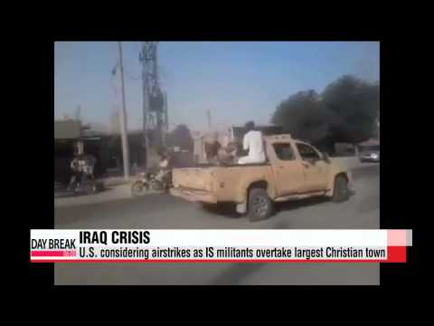 U.S. considers airstrikes as IS militants overtake Iraq's largest Christian town