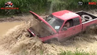 Red Dodge Comes Apart At Silver Willow Classic Mud Bog