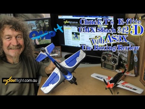 E-flite UMX Sbach 3D with AS3X  Un-boxing review