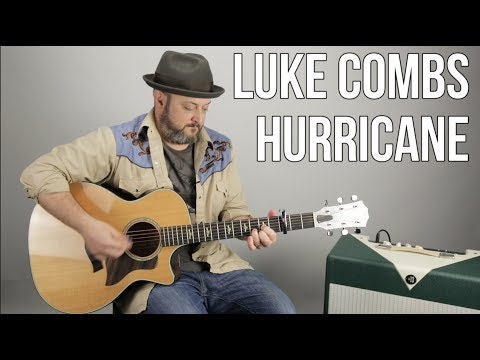 """Luke Combs """"Hurricane"""" Guitar Lesson - Country Guitar Lessons (Easy)"""