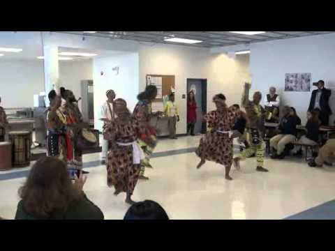 MUNTU performance at West Town Academy 02/24/2014