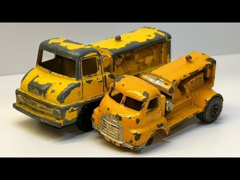 Matchbox restoration Compressor truck nr 28 A and nr 28 B diecast car