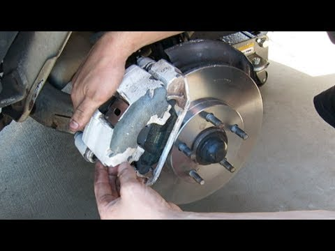 HOW TO REPLACE INSTALL BRAKES AND ROTORS FORD MUSTANG