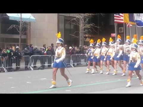 Mother Cabrini High School Marching in St Patrick's day parade 2014.mp4