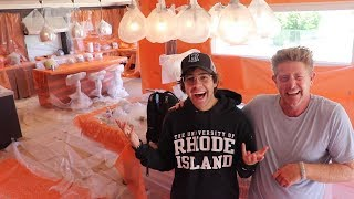 BUBBLE WRAPPING DAVID DOBRIK'S HOUSE!!