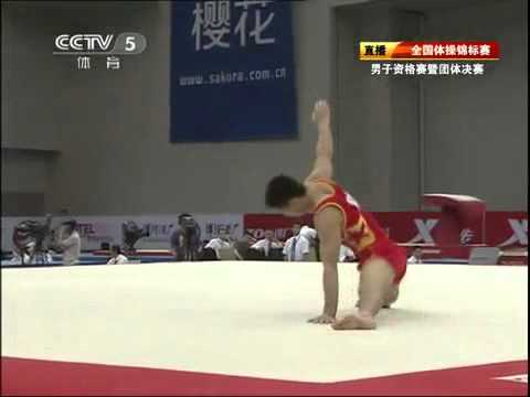 Zhang Chenglong floor chinese national 2011 qualification