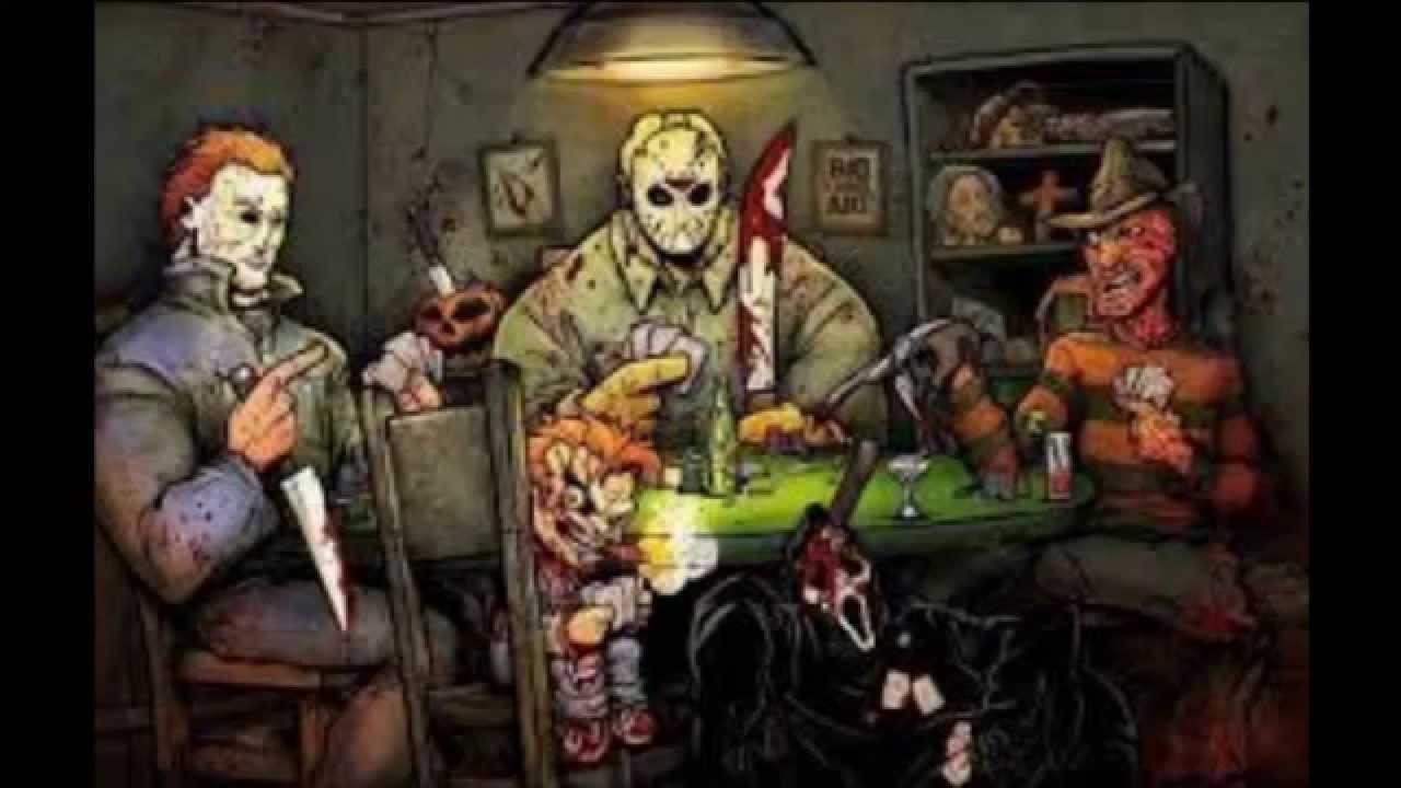 The gallery for --> Freddy Krueger Vs Jason Vs Chucky  Freddy Krueger Vs Jason Vs Chucky Vs Scream Vs Michael