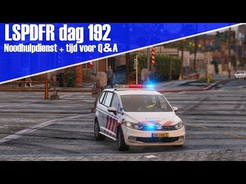 GTA 5 lspdfr dag 192 - Noodhulpdienst + Stel vragen voor een Q&A!