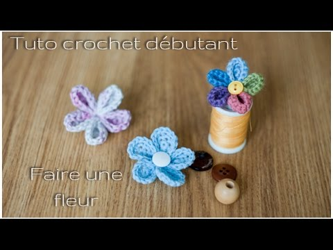 Tuto d butant comment faire une fleur au crochet youtube - Faire une fleur ...