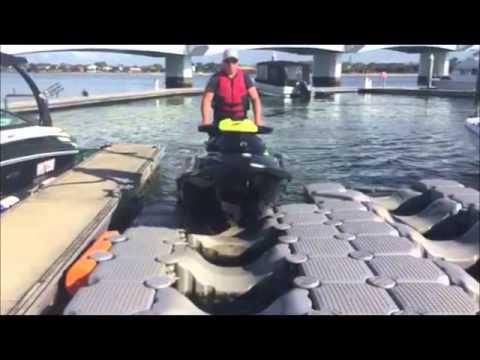 Drive your jet ski onto a dry dock