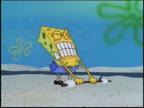 Spongebob Tries To Lift Marshmallows As I Play Fitting