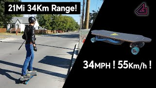 Watercooled DIY Electric Skateboard Part Three - Range - Speed Test!