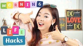 7 TIPS cho buổi sáng NHANH + GỌN + LẸ ♡ Back to school ♡ Morning Life Hacks⏰ Phuong PTT Nguyen