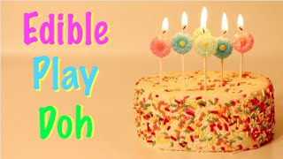 How To Make Edible Birthday Cake Play Doh