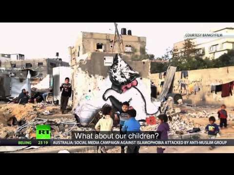 Banksy in Gaza: Haunting images among ruins of war