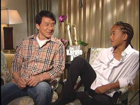 Jaden Smith and Jackie Chan Interview for THE KARATE KID Video