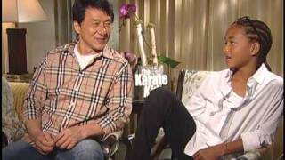 Jaden Smith and Jackie Chan Interview for THE KARATE KID