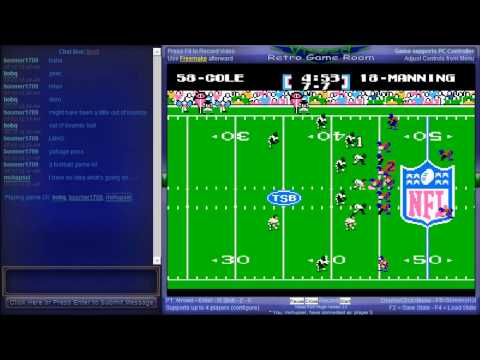 Tecmo Super Bowl 2013 (TecmoBowl.org hack) - Netplay Session - Tecmo Super Bowl 2013 (NES) - User video