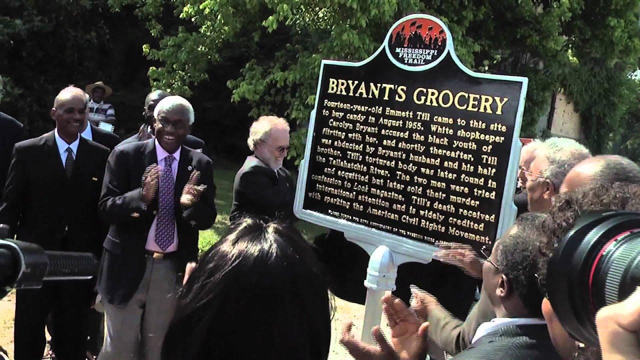 Emmett Till >> Emmett Till Civil Rights Marker at Bryant's Store in Money ...