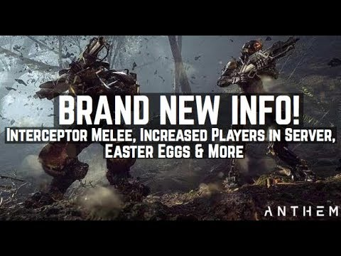Anthem: Brand New Info! Interceptor Melee, Skill Tree, Paid Cosmetics & More