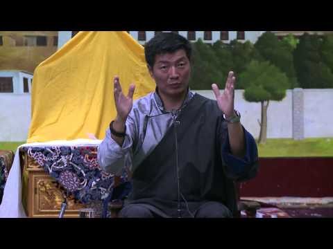 Sikyong Dr. Lobsang Sangay's talk at Upper TCV School after HH the Dalai Lama's teaching