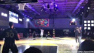 Steph Curry's mother, Sonya, hits INSANE underhand half-court shot!