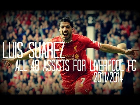 Luis Suarez - All 48 Assists For Liverpool FC - 2011-2014 - English Commentary - (Just Assists)