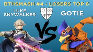 BTHSmash #4 - Luke Snywalker (Villager, Corrin) vs Gotie (Mario, Falco) - Losers Top 8 - Smash 4