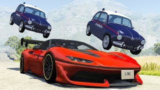 Beamng drive - Police Chases vs Sports Cars crashes #14