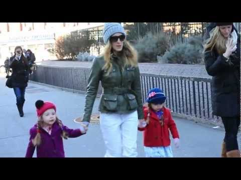 Sex And The City Star  Sarah Jessica Parker Out N About NYC with Twins Tabitha & Loretta