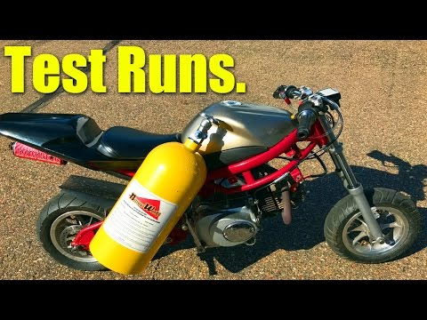 $50 Pocket Bike NOS Test Runs!