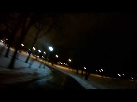 Car driving on the Lakefront Trail (Chicago)
