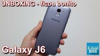 Samsung Galaxy J6 - UNBOXING - Ficou bonito