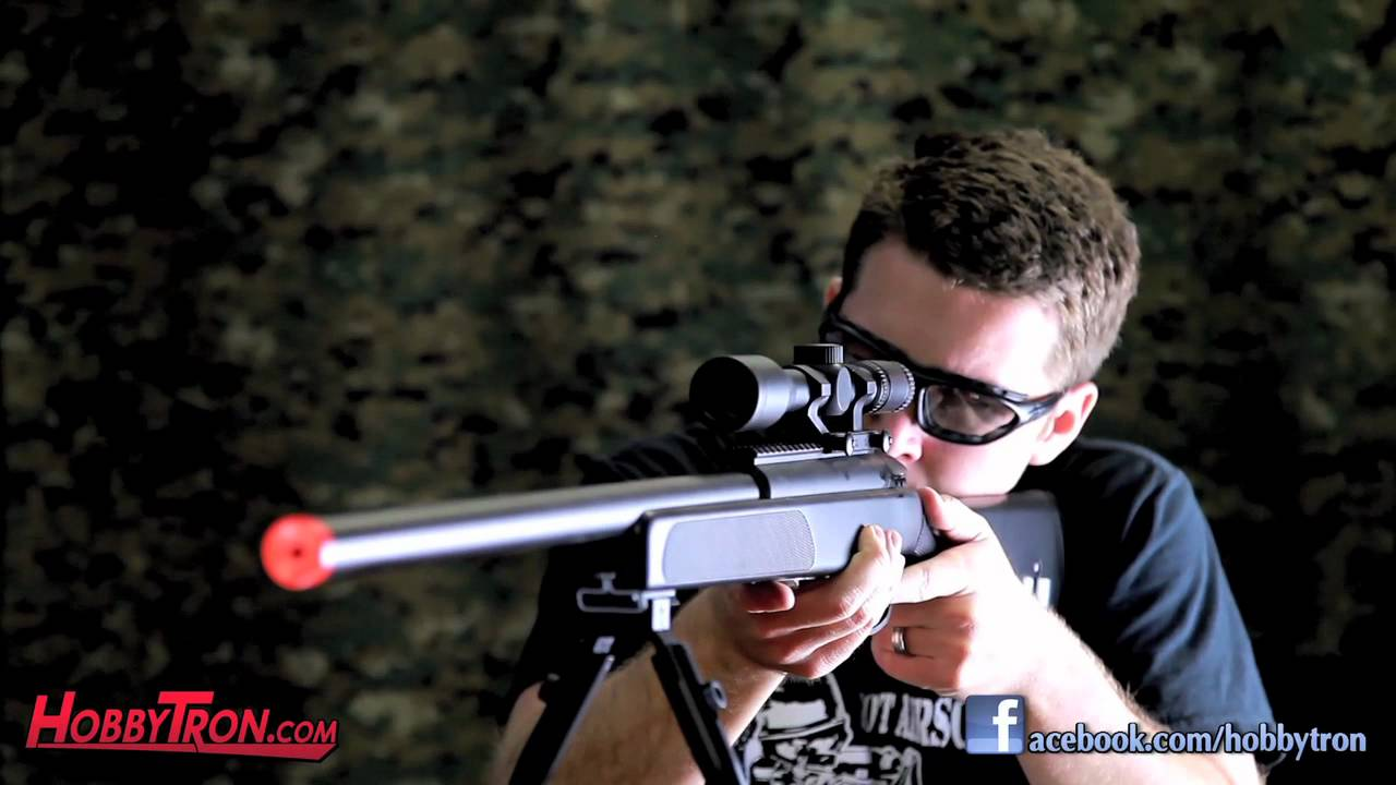 Spring ZM51 Bolt Action Sniper Rifle Video Airsoft