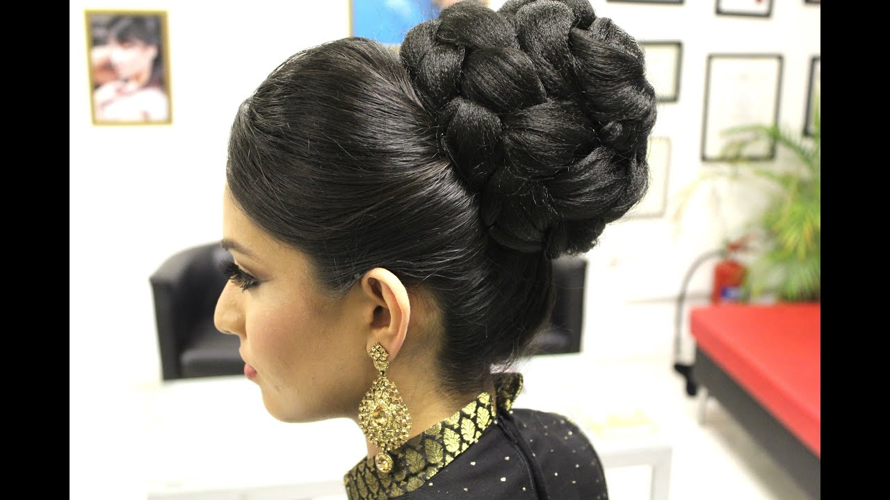 TUTORIAL: Indian Bridal Hairstyle - YouTube