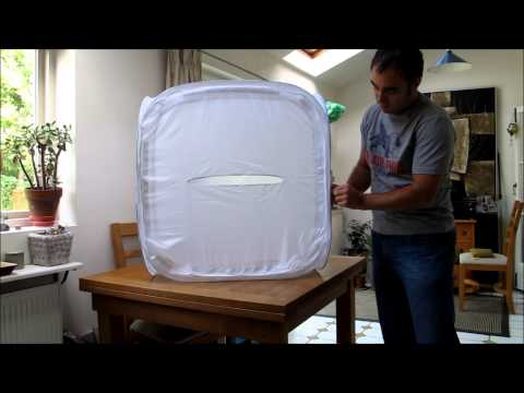 How To Fold A Portable Light Tent / Cube / Softbox