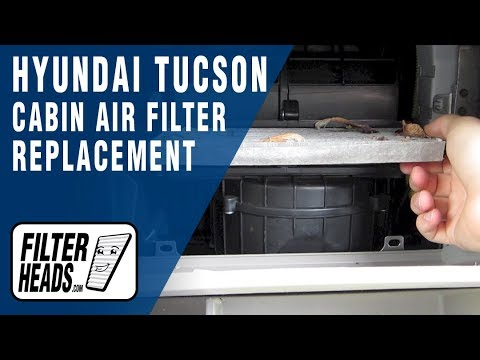 Cabin air filter replacement- Hyundai Tucson