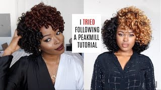 I TRIED Following a PEAKMILL Tutorial: DIY Curly Fro