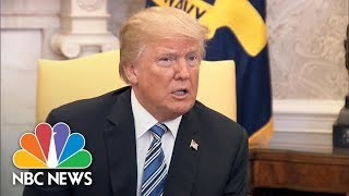 President Donald Trump 'Not Backing Down' On Tariffs, Doesn't Think Trade War Will Happen | NBC News