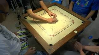Carrom Doubles Final in French Nationals 2016 (Villepinte)