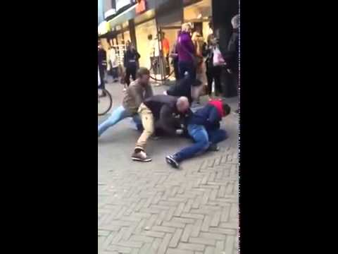 Dutch Police violently arrest shoplifter in shopping centre - Police Brutality