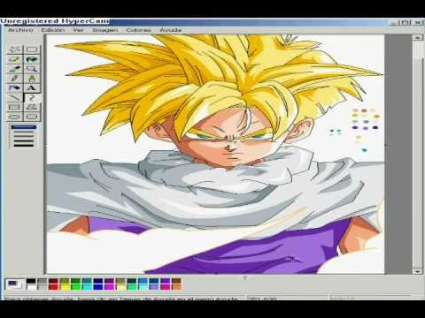 Gohan SSJ - Ms paint Drawing