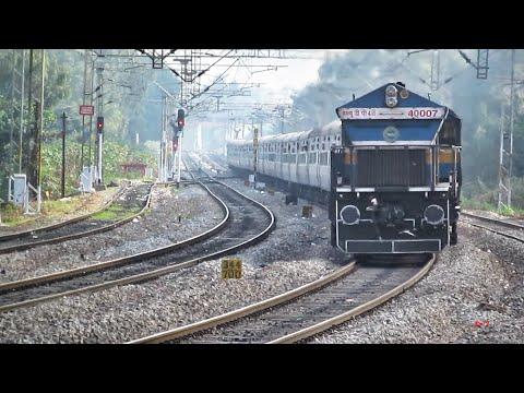 "4""007"" UBL WDP4B Extreme Notching with Udyan Express Skipping Baiyyappanahalli"