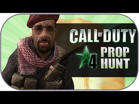 COD 4 Prop Hunt Funny Moments: Christmas Time, Taunt Fails, Epic Escape?!