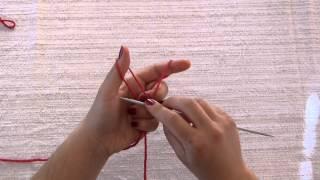 Pletenje: nizanje očica s dvije niti