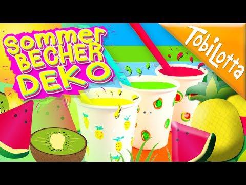 Best Summer DIY Ideas Decor | Becher gestalten | Sommer deko | Sommer basteln | Kids DIY DIY 117
