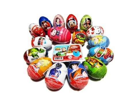 17 Surprise Eggs Kinder Disneyland Toy Story Disney Pixar Cars Princess Dragon Ball Z Hello Kitty