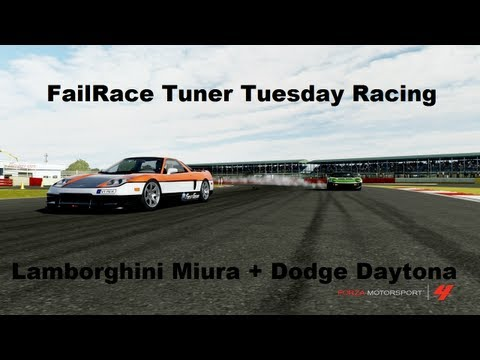 FailRace Tuner Tuesday Racing Week 4 Lamborghini Miura + Dodge Daytona (Forza 4)